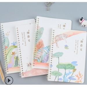 小清新线圈本A5韩版创意文具活页笔记本记事本学生日记本子 款式随机发货