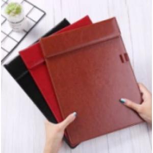广纳  仿皮pu材质A4板夹 棕色 定制logo(销售单位:个)