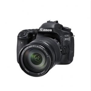 CANON/佳能 EOS-80D配18-200mm 黑色 2420 万像素 单反套机 照相机