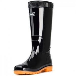 回力 43码 高筒防水雨鞋黑色43码
