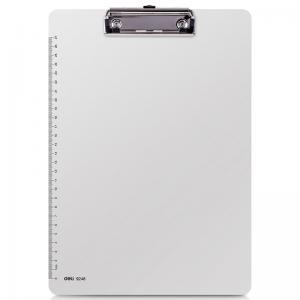 得力(Deli) 9248 塑料板夹 白色  A4 板夹