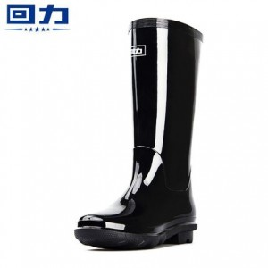 回力 雨鞋女士中筒雨靴保暖加绒胶鞋863  38码