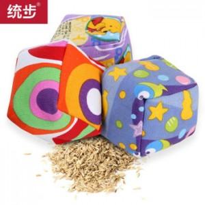 统步儿童沙包 7cm立体沙袋 帆布丢沙包跳房子 幼儿园小学投掷游戏玩具卡通型 3个装