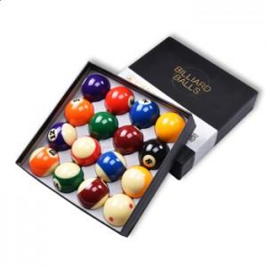 健英台球球子十六球美式黑8花式九球16彩斯诺克台球黑八桌树脂球子 健英台球子