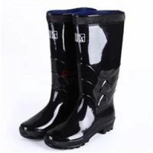 回力 加厚 大码 雨靴 耐酸耐碱中筒雨靴 黑色(单位:双)