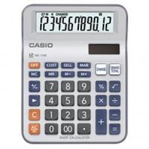 卡西欧 MC-12M 大键盘找零功能计算器 12位 灰白色 单位:台