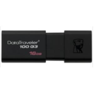 金士顿 DT100G3雅黑色 16G USB3.0 U盘 单位:个