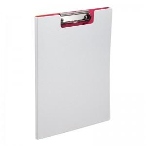 齐心 央格系列 双折式 票据板夹 A5306 12.3*23*1cm 红色