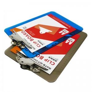 欧标 B2056 蝴蝶夹书写板夹 23*15.3cm颜色:透明灰、规格 :A5