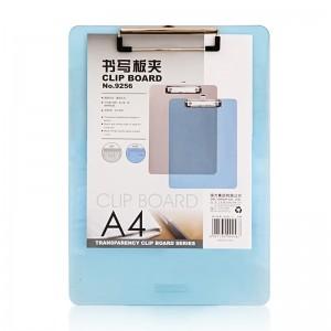 得力 9256 A4 塑料透明板夹  (20个/箱) 混色 单位:个
