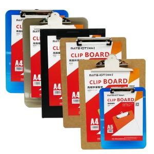 欧标 B2054 塑胶书写板夹 23*15.3cm颜色:黑色、规格 :A5