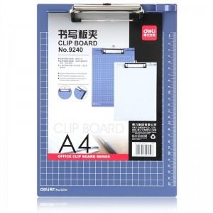 得力 塑胶板夹9240 带刻度平板夹A4 314*228mm
