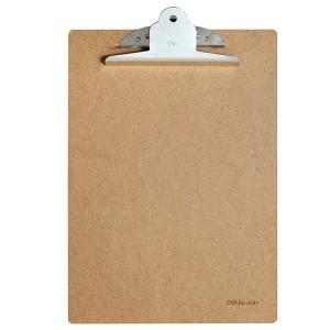 得力原木质书写板夹(蝴蝶夹) 9227 A4 土棕色
