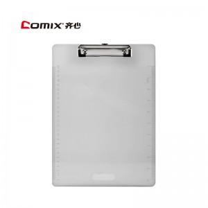 齐心(Comix) 写字板夹 A744颜色:透明、规格 :A4 1/12/60