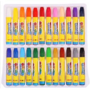 得力  油画棒 6963 儿童绘画笔(24色)