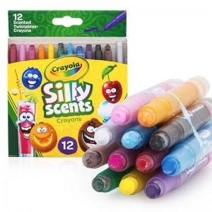 绘儿乐百变香味系列蜡笔 52-9612 12色 迷你旋转