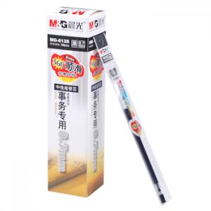晨光 M&G 中性替芯 MG-6128 0.7mm (黑色) 20支/盒 单位:盒