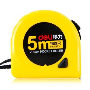 得力(deli) 钢卷尺 黄色 长尺带 碳钢带规格:19mm*5M