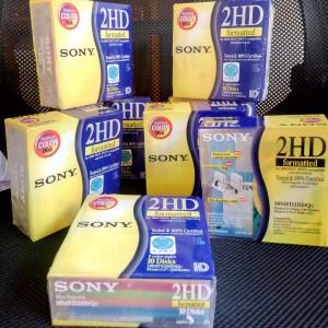 5色十片装 索尼软盘 3.5寸 1.44mb MF2HD软盘 绣花机软磁盘 软盘