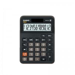 卡西欧(Casio) MX-12B 12位 双电源 计算器 黑色(单位:个)