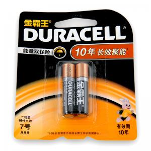 """""""金霸王 (Duracell)七号 碱性电池 2节/卡 """""""