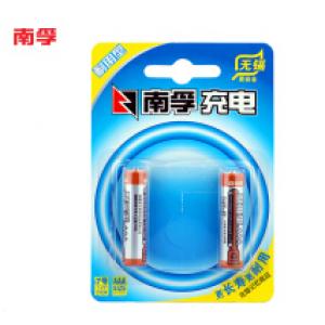 南孚(NANFU)AAA充电电池7号2粒900mAh耐用型镍氢/玩具车/血压计/挂钟/鼠标键盘电池(YX)