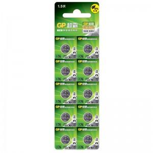 超霸 钮扣电池 GPA76F-LY 1.5V 110毫安规格:单粒