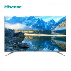 海信(Hisense)HZ60A70 电视机 60英寸 4K超高清电视机 支持网络连接 3840x2160分辨率 LED显示屏 二级能效 含底座 一年保修 银色