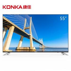 康佳 LED55G30UE 电视机 55寸 分辨率3840*2160 支持有线/无线连接 LED显示屏 二级能效 配底座 一年保修
