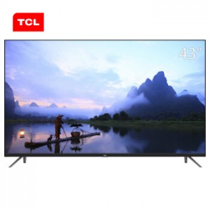 TCL 43A360 43英寸观影王 4K超高清HDR安卓智能液晶电视机(黑色)