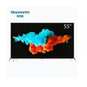 创维 55V9 55英寸25核4色4K超薄HDR金属机身超高清智能电视