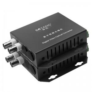 博扬 光端机 BY-2V1D 视频光端机2路视频+1路485反向数据 光纤传输FC接口单模单纤