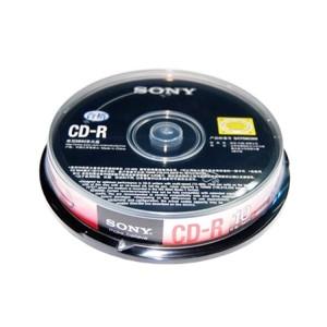 索尼(Sony)光盘桶装 CD-R 700M (10片装)