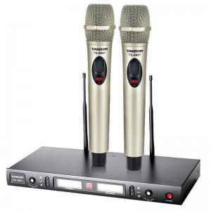 得胜(TAKSTAR)TS-8807无线话筒麦克风一拖二 U段可调频家庭KTV会议舞台演出专用 稳定高质全金属