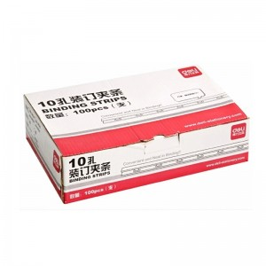 得力 (Deli) 3827 装订夹条 100支/盒 12盒/箱 10mm