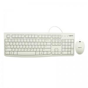 罗技 有线鼠标键盘套装 MK120 双USB接口 线缆长度鼠标1.8m 键盘1.5m 白色