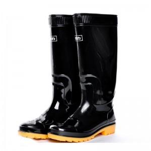 回力 高筒 劳保 雨靴 807 40码 黑色尺码:44码
