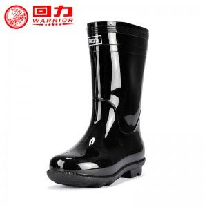 回力 中筒不加绒男士防滑雨鞋 838 筒高28cm筒围41cm跟高3cm 黑色尺码:41码