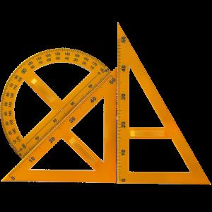 福牌 木质三角板量角器圆规套装 教学演示用三角尺套装(销售单位:套)