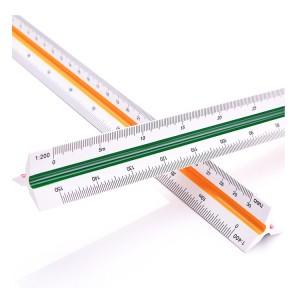 得力(deli) 8930 三棱比例尺高精度仪尺 30cm