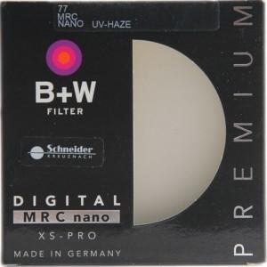 B+W UV镜 MRC NANO XS-PRO 77mm滤镜 超薄纳米多膜UV镜 德国进口 黑色