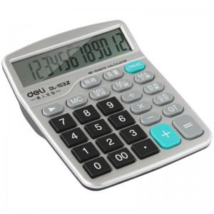 得力 1532语音计算器 12位大屏幕财务专用计算机