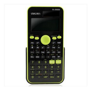 D82ES 得力计算器 函数计算器 计算器颜色:绿色
