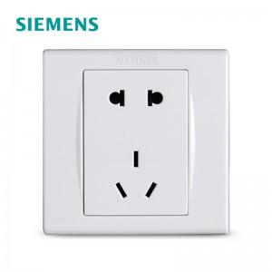 西门子 5UB0615-3NC01 一位10A 联体二三极插座/五孔插座 白色(销售单位:个)