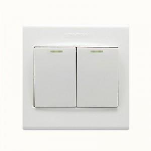 西门子 5TA0623-3NC01 二位双控带荧光中跷板开关/二位开关 白色
