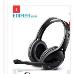 漫步者(EDIFIER) k800 -黑色 头戴式电脑耳机 XCw