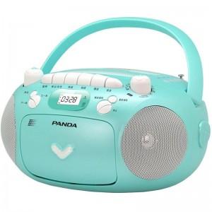 熊猫(PANDA)CD-209 便携式CD复读机播放机 磁带录音机 收录机 磁带 U盘 相互转录机(蓝色)