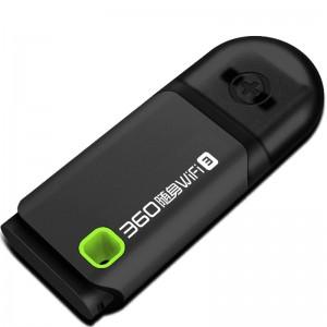 360 随身迷你 路由器 WiFi3 300M USB接口 内置天线 黑色