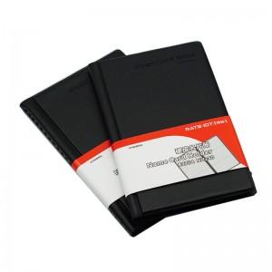 欧标 B2754 硬皮摊开式名片册 黑色 240名 横式 单页3格