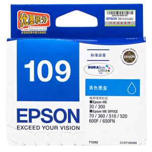 EPSON/爱普生 T1091 黑色 1 支 245 页 墨盒 适用机型见商品详情